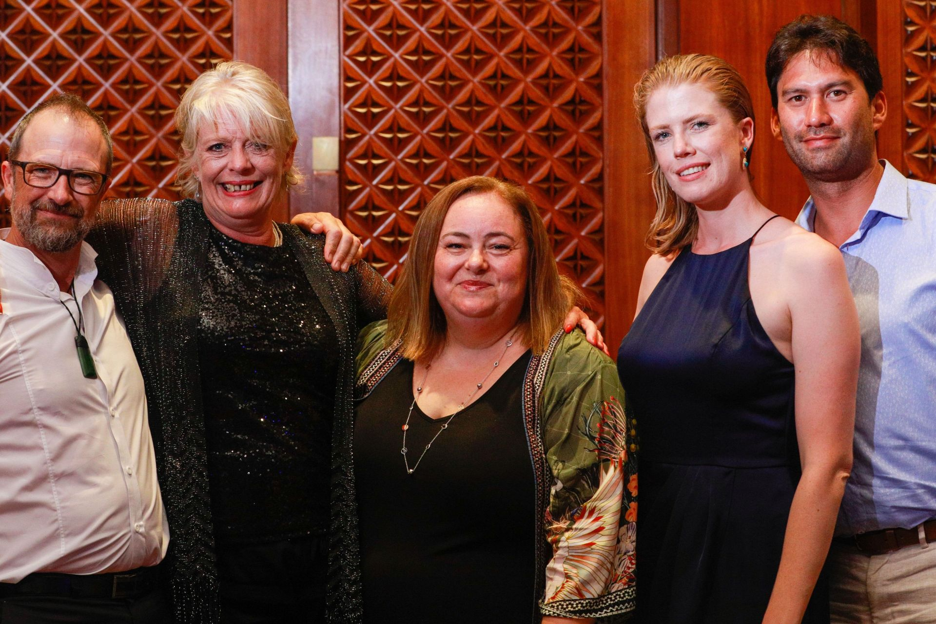 Sara Pantaleo, centre, outgoing CEO of La Porchetta, with franchisees | Inside Franchise Business
