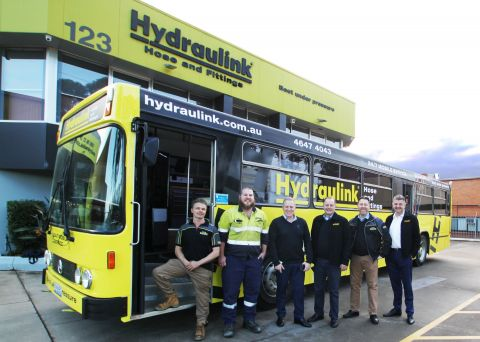 Hydraulink Campbelltown franchisee Jeff McCoskery left, at the launch of the expansion program | Inside Franchise Business Executive