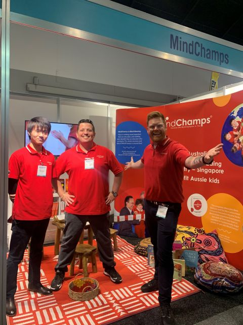 The MindChamps team at the Sydney expo | Inside Franchise Business Executive